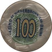 100 Francs - Casino De Niederbronn-Les-Bains – reverse