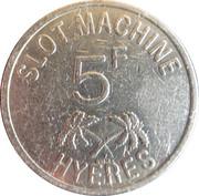5 Francs - Casino Des Palmiers (Hyeres) – obverse