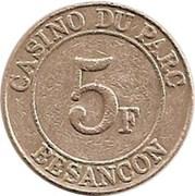5 Francs - Casino du parc (Besançon) – reverse
