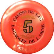 5 Francs - Casino Bagnoles-de-l'Orne – reverse