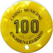 100 Francs - Casino Enghien-Les-Bains – reverse