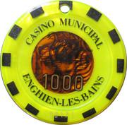 1000 Francs - Casino Enghien-Les-Bains – obverse