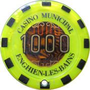 1000 Francs - Casino Enghien-Les-Bains – reverse
