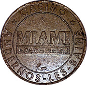 2 Franc - Casino Miami (Andernos Les Bains) – reverse