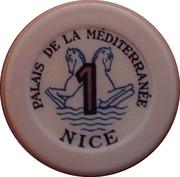1 Franc - Casino Palais de la Méditerranée (Nice) – reverse