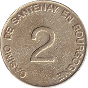 2 Francs - Casino de Santenay en Bourgogne – reverse