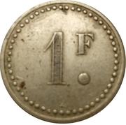 1 Franc - Casino Granville – reverse