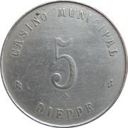 5 Francs - Casino municipal (Dieppe) – reverse