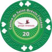 Poker Chip - Casino de Saint-Brévin l'Océan (20) – reverse