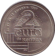 2 Euro - Rennes – reverse