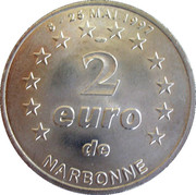2 Euro - Narbonne – reverse