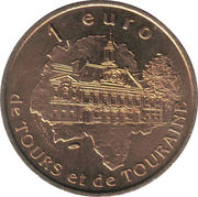 1 Euro - Tours and Touraine (Loches) – reverse