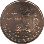 1 Euro - Tours and Touraine (Château-Renault) – obverse