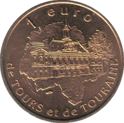 1 Euro - Tours and Touraine (Château-Renault) – reverse