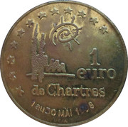 1 Euro - Chartres – reverse