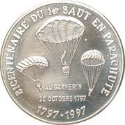 1½ Euro - Strasbourg / Colmar (Ligue d'Alsace de parachutisme) – obverse