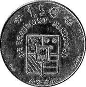 1,5 Euro - Beaumont-du-Périgord – reverse