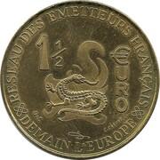 1½ Euro - Reseau des Emetteurs Français – reverse
