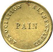Token - Pain - Association Alimentaire (Ville de Dole) – reverse