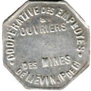 Token - Cooperative des employés et ouvriers des mines de Liévin – reverse