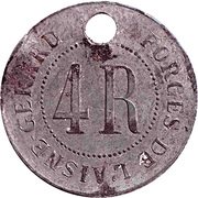 Token - Forges de l'Aisne Gerard (4R) – obverse