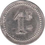 1 Franc - Sté Coopérative La Ruche - Digoin (Saone et Loire) – reverse