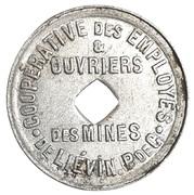 Jeton Cooperative des employés et ouvriers des mines de Liévin [62] – reverse