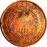 Token - Exposition Universelle Centenaire de 1789 – reverse