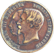 Medal - Napoléon III / Eugenie (Exposition Universelle 1867) – obverse