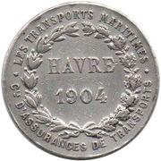 Token - Cie d'Assurances de Transports (Havre 1094; Normandie) – reverse