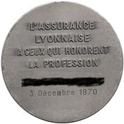 Medal - d'Assurance Lyonnaise – reverse