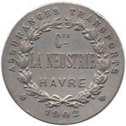 Token - Compagnie La Neustrie (Havre) – reverse