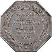 Token - Compagnie du Havre – reverse