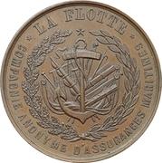 """Jeton - Assurances Maritimes """"La Flotte"""" – reverse"""