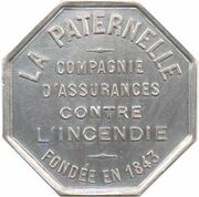 Insurance token - Assurances La Paternelle – reverse