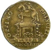 Counter Token - Louis XV (Optimo Principi) – reverse