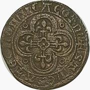 Token- France (Shield / Floreate cross) – reverse