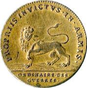 Token - Louis XIV (Military Household) – reverse