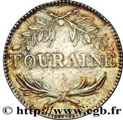Token - Louis Jean Marie de Bourbon (Touraine) – reverse