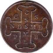 Medal - Saint Benoît ou Médaille des sorciers – reverse