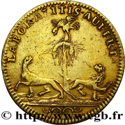 Token - Louis XIV (War of the Spanish succession) – reverse