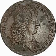 Token - Louis XIV (Royal treasury; Semperque Recentes) – obverse