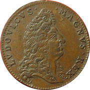 Token - Louis XIV (Carthagena) – obverse