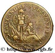 Token - Louis XIV (Conquest of Flanders) – reverse