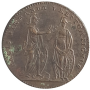 Token - Louis XV (The capture of Fontarabia, Basque Country) – reverse