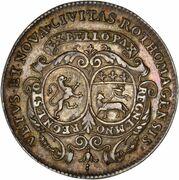 Token - Louis XIV (Normandie; Ville de Rouen C.P.Q.R.) – reverse