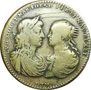 Token - Louis XIV and Maria Theresia (Vincit Dum Respicit) – obverse