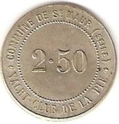 2.5 Francs - Yacht Club de la Pie (Saint-Maur-des-Fossés) – reverse