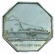 Token - Steam ship passenger ship company on the Saone river – obverse