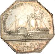 Bateaux à vapeur en fer sur la Seine - Charles X – reverse
